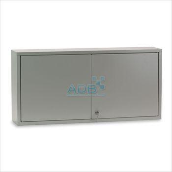 ADB Wandschrank 2türig mit Lochrückwand - 470 x 973 x 200 mm - Farbauswahl – Bild 2
