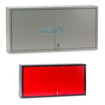 ADB Wandschrank 2türig mit Lochrückwand - 470 x 973 x 200 mm - Farbauswahl – Bild 1