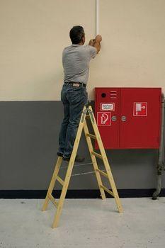 KRAUSE Stabilo Professional Sprossen Holz DoppelLeiter 2x4 bis 2x12 – Bild 3