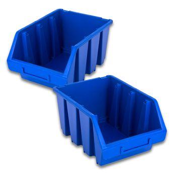 ADB Set Ergoboxen Stapelbox Lagersichtbox Gr. 1 bis Gr. 5 – Bild 20