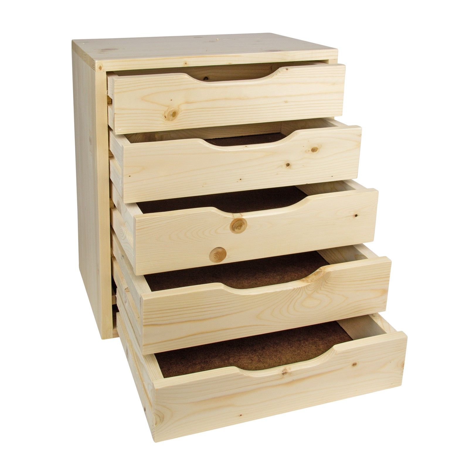 holz schubladenbox sb 3 4 5 6 schubladen. Black Bedroom Furniture Sets. Home Design Ideas