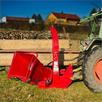Holzhäcksler mit hydraulischem Vorschub WS 150 Gartenhäcksler Schredder – Bild 3
