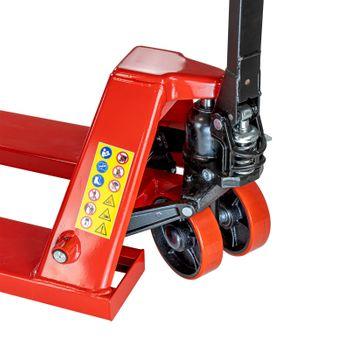Gabelhubwagen Hubwagen Handstapler Stapler 2 t 2000 kg PU orange 1100mm – Bild 7