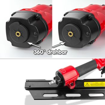 Kompressor Druckluftnagler Streifennagler Nagelgerät 50-90 mm 34° mit Koffer  – Bild 5