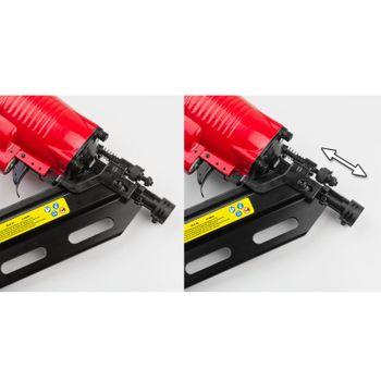 Kompressor Druckluftnagler Streifennagler Nagelgerät 50-90 mm 34° mit Koffer  – Bild 4