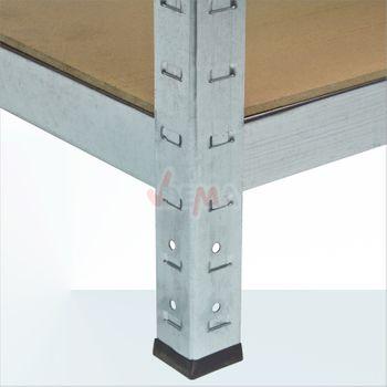 Steckregal Doppelt 8 Böden je 65 kg 160x160x40 cm – Bild 6