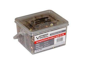 Vintec Spanplattenschrauben 4 x 50 / 30 TX Bithalter I-Stern-Bit 75002 – Bild 1