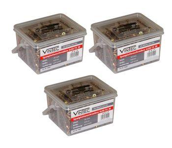 Vintec Spanplattenschrauben 4 x 50 / 30 TX Bithalter I-Stern-Bit 75002 – Bild 4