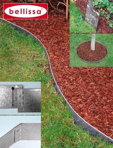 Berühmt bellissa Rasenkante Metall 118 x 13 cm verzinkt #99680 #UR_57