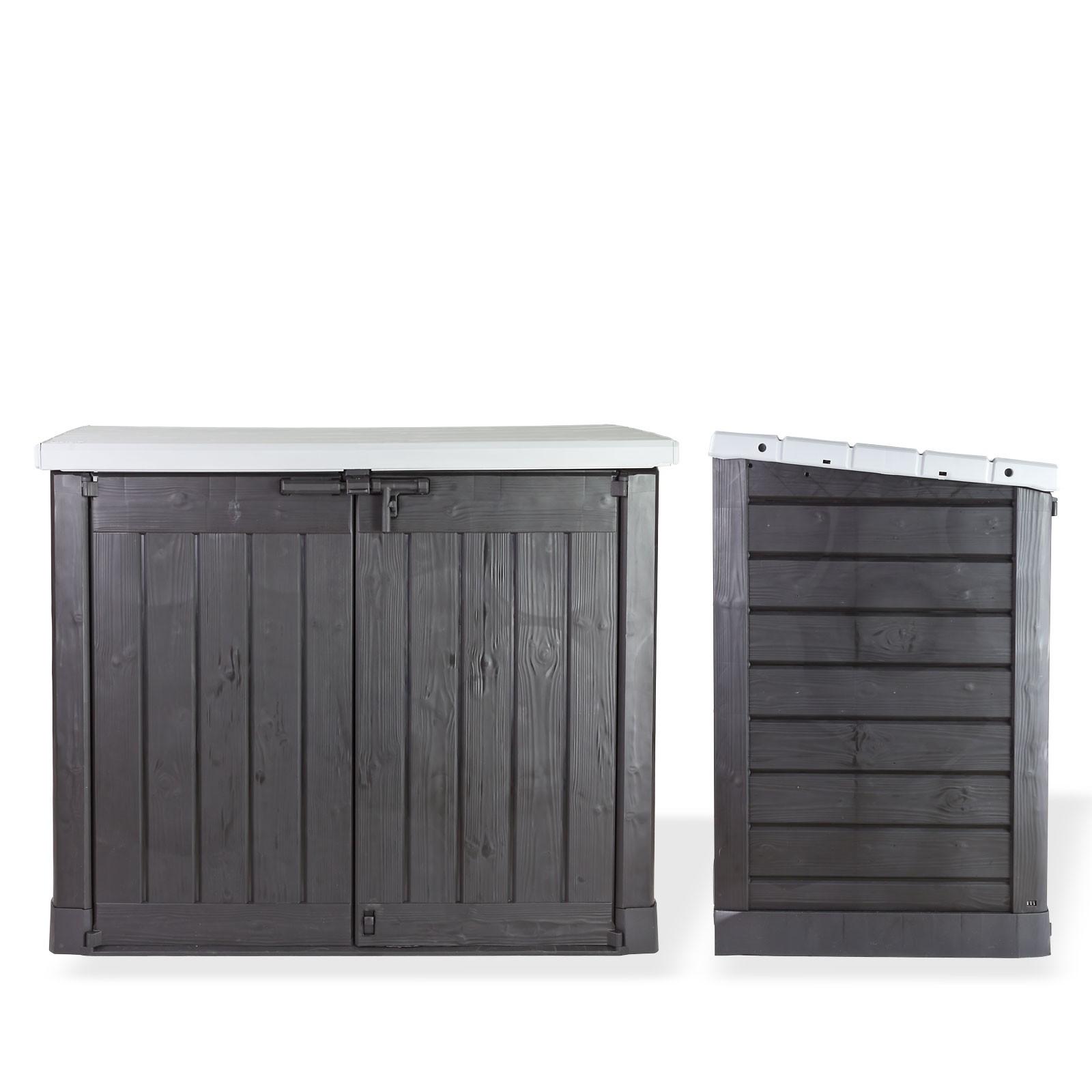 xl m lltonnenbox aufbewahrungsbox f r 2x 240 liter beh lter. Black Bedroom Furniture Sets. Home Design Ideas