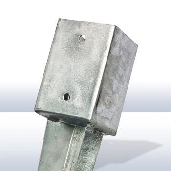 Pfosten Einschlagbodenhülse 135/140 x 750 mm versch. Größen 71x71 91x91 101x101 – Bild 2