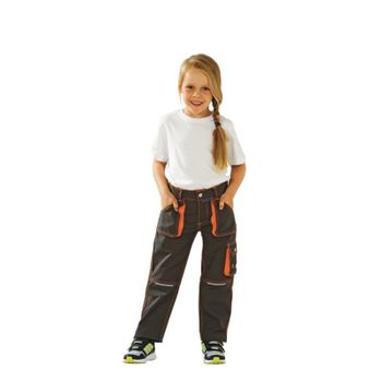 Junior Bundhose anthrazit/gelb marine/orange oliv/orange Gr. 86/92 bis 170/176 – Bild 4