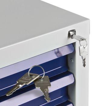 Schubladenschrank Werkzeugschrank 7 Schubladen Schrank für Werkzeug grau blau – Bild 6