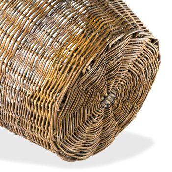 Weidenkorb Ø 55 cm Kartoffelkorb Erntekorb Obstkorb Kiepe Holzkorb – Bild 2