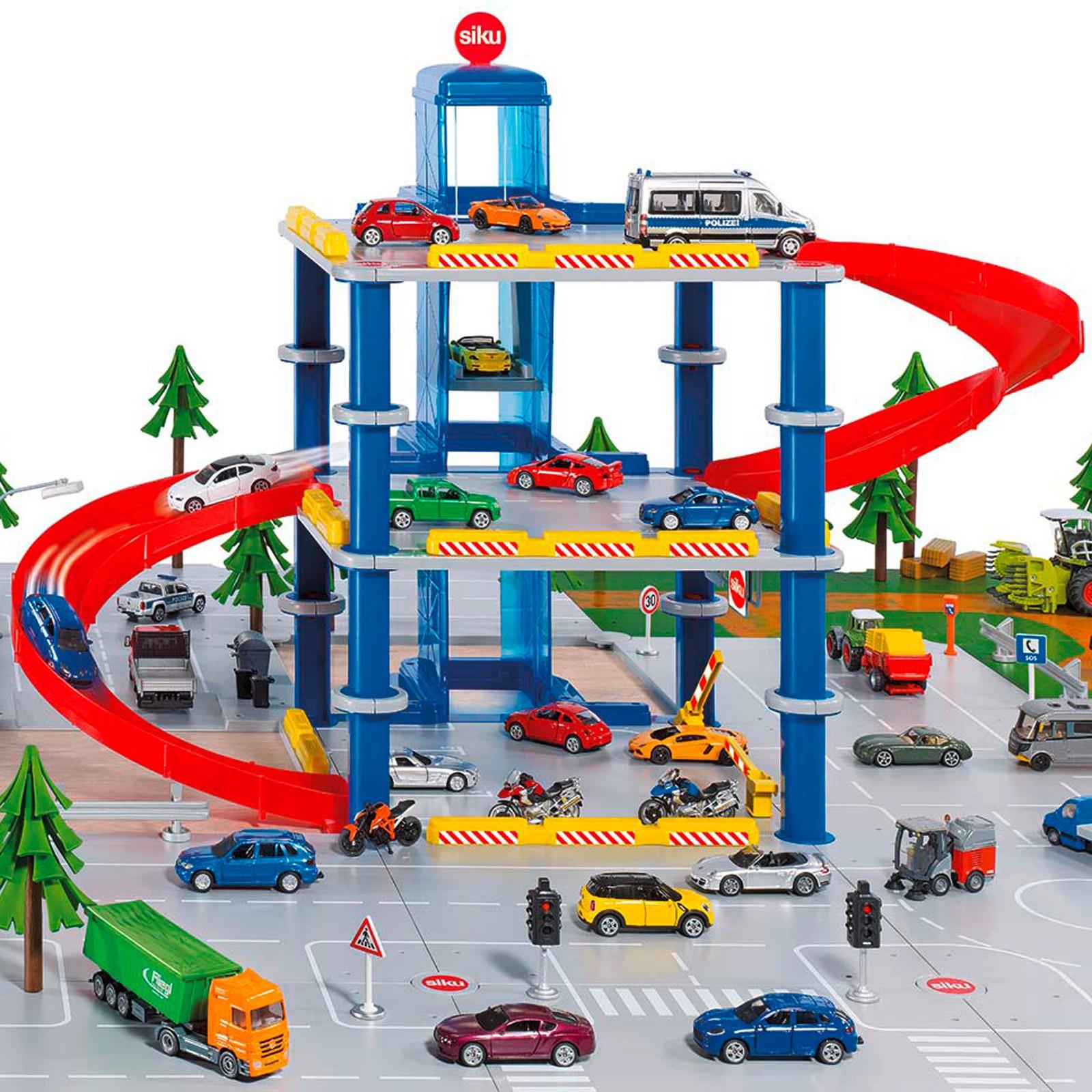 Siku sikuworld spielzeug parkhaus mit ebenen aufzug