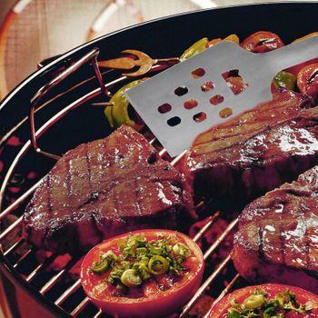 Grillbesteck Besteckset Grill Besteck Grillzange Grillgabel Wender Set 3tlg.  – Bild 5