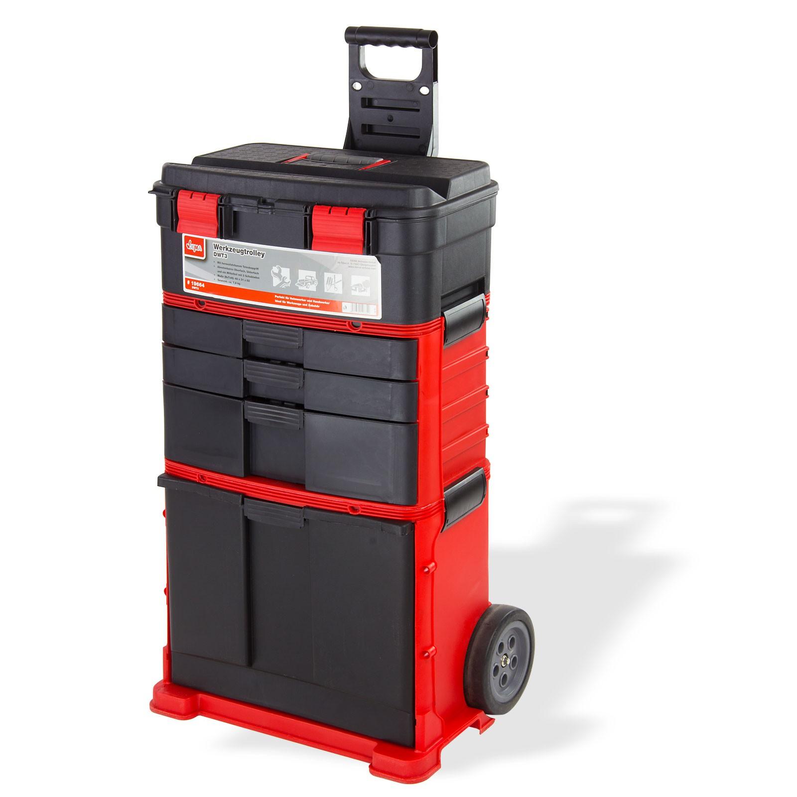 werkzeugtrolley werkzeugwagen werkzeugkiste werkzeugkoffer. Black Bedroom Furniture Sets. Home Design Ideas