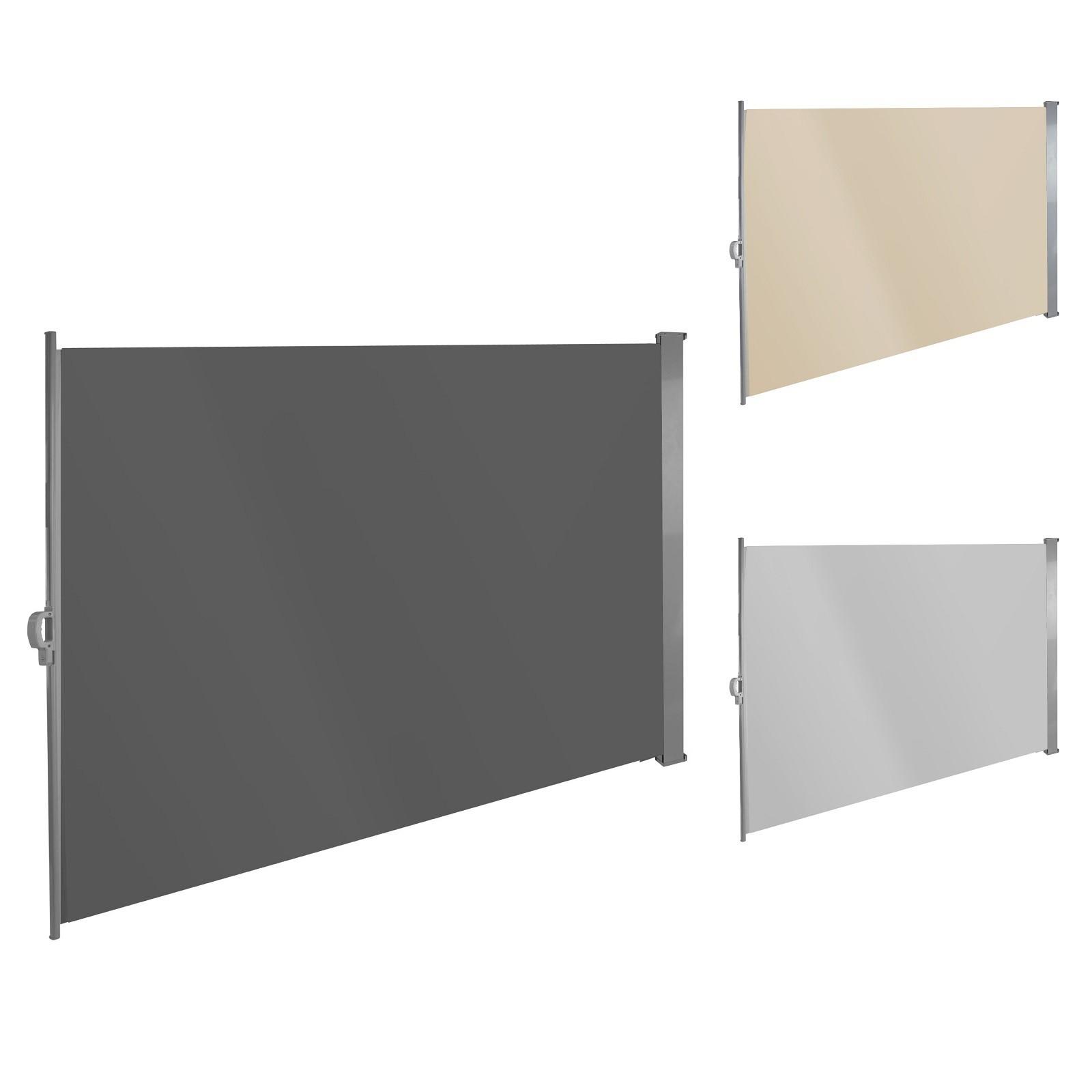 Seitenmarkise Sonnenschutz Seitenrollo Polyester 180x300 Cm Beige