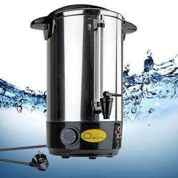 Edelstahl Gastro Wasserkocher mit Edelstahlkorpus 10 Liter 230V 950W Kabel 115cm – Bild 3