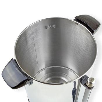 Edelstahl Gastro Wasserkocher mit Edelstahlkorpus 10 Liter 230V 950W Kabel 115cm – Bild 4