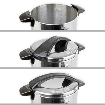 Edelstahl Gastro Wasserkocher mit Edelstahlkorpus 10 Liter 230V 950W Kabel 115cm – Bild 6