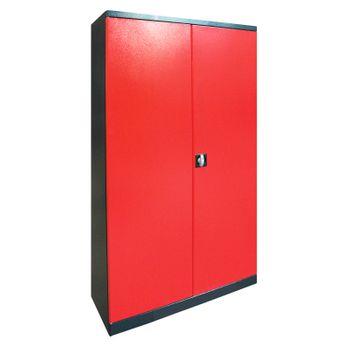 Werkzeugschrank Werkstattschrank Schrank Universal 110x192x38cm anthrazit / rot – Bild 1