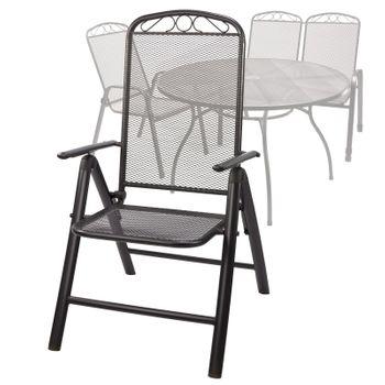 Eleganter Klappstuhl Gartenstuhl Metallstuhl Stuhl klappbar Chicago Streckmetall – Bild 6