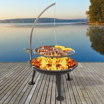 "Schwenkgrill 3-Bein Rundgrill Holzkohlegrill Barbecue BBQ Grill Ø 55 cm ""Oregon"" – Bild 1"