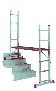 KRAUSE Corda Alu Leitergerüst 2x6 • 2x7 Sprossen Leitern Gerüst EN 131-1 – Bild 4