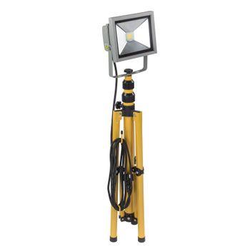 LED - Strahler Baustrahler Flutlicht Arbeitsleuchte Arbeitslampe 20 W mit Stativ – Bild 3