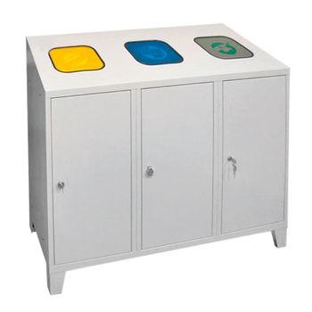 ADB Mülltrenner Abfallsammler Wertstoffsammler 1220x1200x450 mm 3x á 120 l – Bild 1