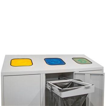 ADB Mülltrenner Abfallsammler Wertstoffsammler 1220x1200x450 mm 3x á 120 l – Bild 4