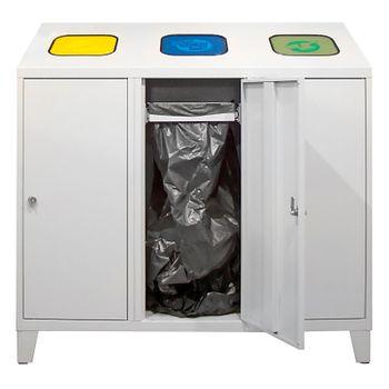 ADB Mülltrenner Abfallsammler Wertstoffsammler 1220x1200x450 mm 3x á 120 l – Bild 2