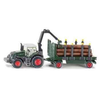 SIKU Kinder Spielzeug Fendt 939 Traktor Schlepper + Holzanhänger Anhänger / 1861