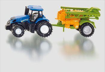 SIKU Traktor New Holland + Feldspritze Super Serie Spielzeugauto Modellauto 1668
