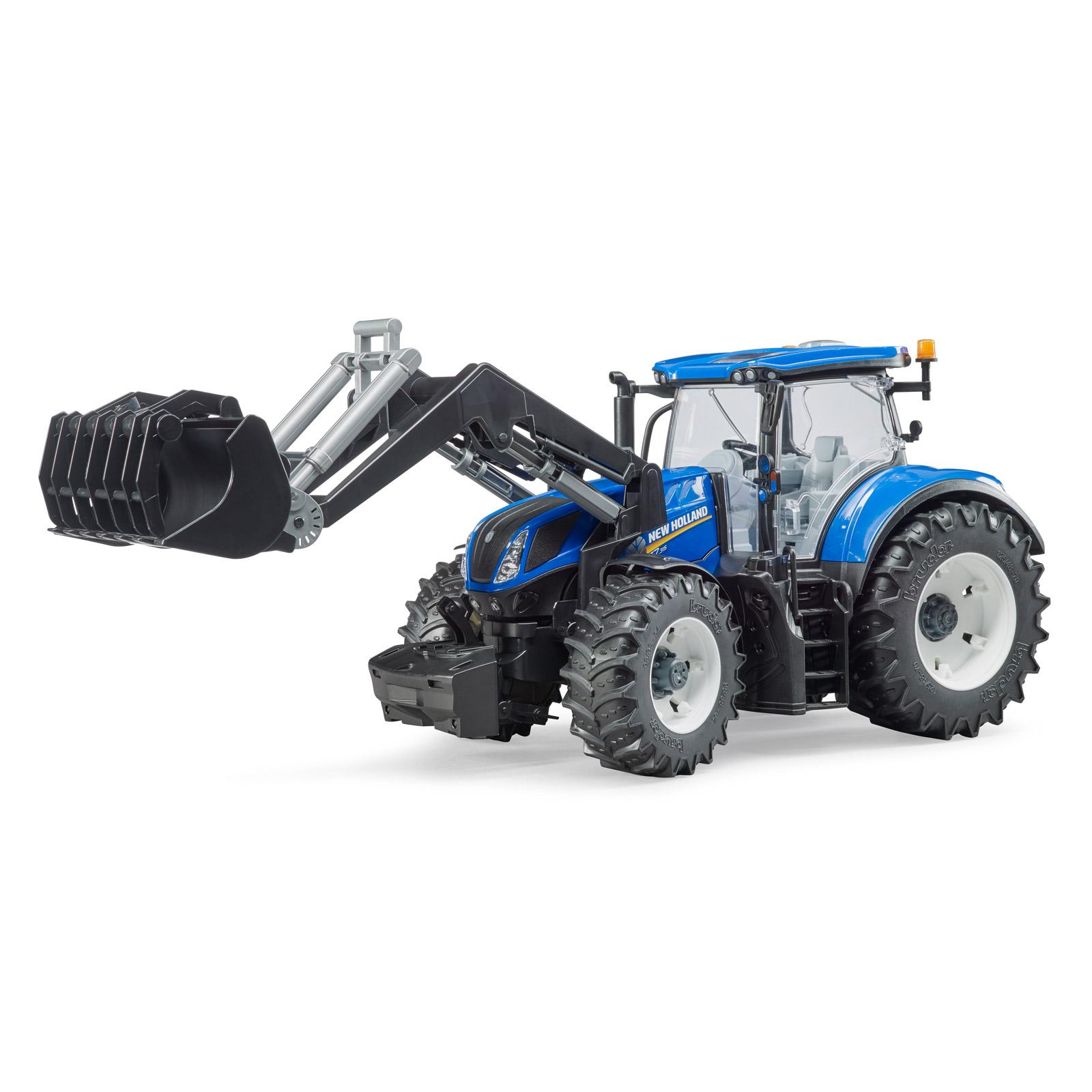 bruder kinder spielzeug traktor blau new holland. Black Bedroom Furniture Sets. Home Design Ideas