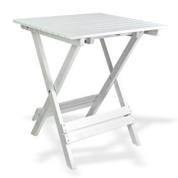 Bistroset Sanremo weiß Balkonmöbel Gartenmöbel 2x Stuhl 1x Tisch klappbar – Bild 3