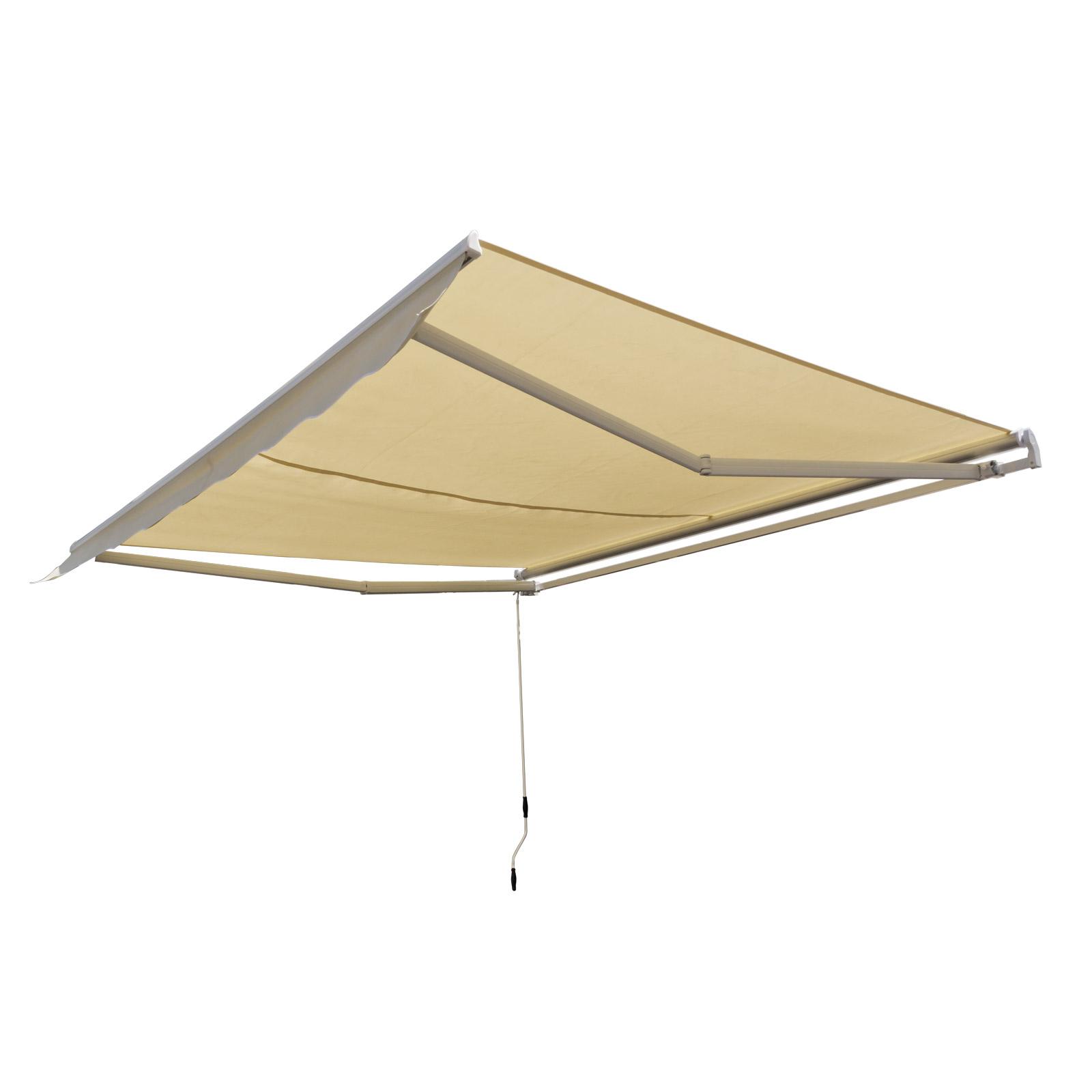 alu markise mit kurbel sonnenschutz berdachung terrasse beige 3 x 2 5 m. Black Bedroom Furniture Sets. Home Design Ideas