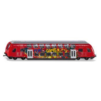 SIKU Kinder Spielzeug Doppelstock - Zug Spielzeugzug Modellzug rot / 1791 – Bild 1
