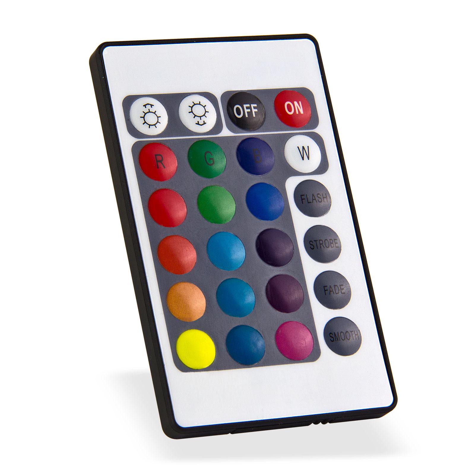 led strahler leuchte bunt 20 w wei 15 farben 4 programme mit fernbedienung. Black Bedroom Furniture Sets. Home Design Ideas