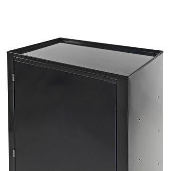 Stahl Werkzeugschrank Stahlschrank Schrank 2 Böden anthrazit 70x43x120 cm – Bild 3