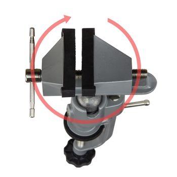 Tischschraubstock Schraubstock Präzisionsschraubstock 75 mm drehbar Kugelgelenk – Bild 4