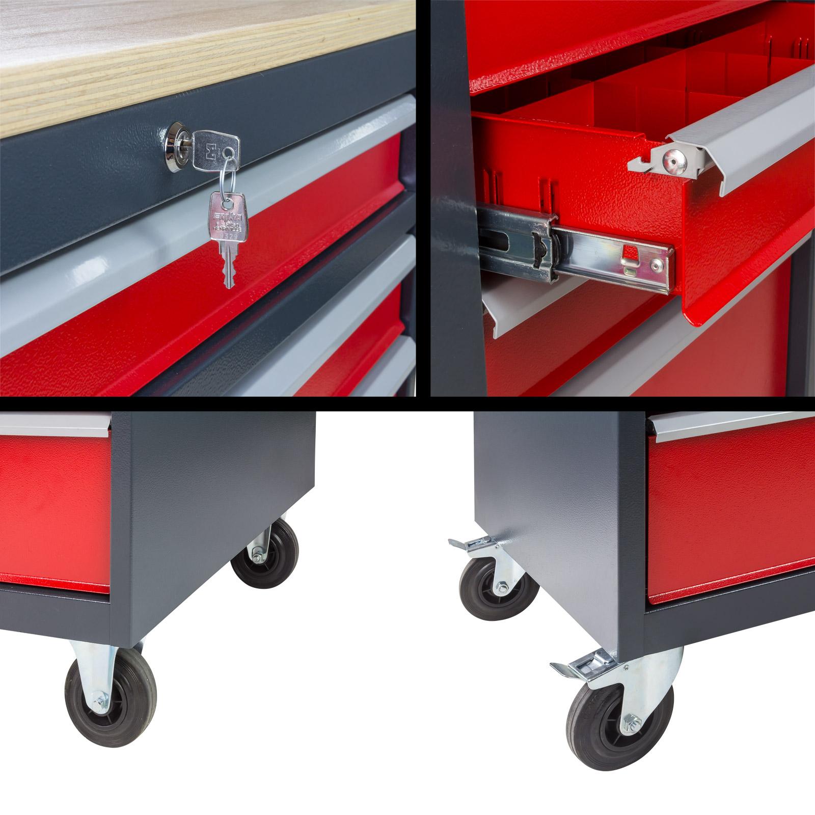 werkbank werktisch transportwagen schubladenwagen mobil. Black Bedroom Furniture Sets. Home Design Ideas