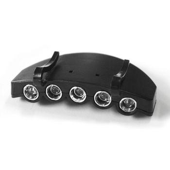 Cap Basecap Light Schildkappe Licht Beleuchtung Stirnleuchte Stirnlampe 5 LED – Bild 4