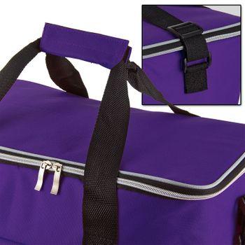 Kühltasche Thermotasche Isoliertasche Campingtasche Schultertasche 32 L lila – Bild 6