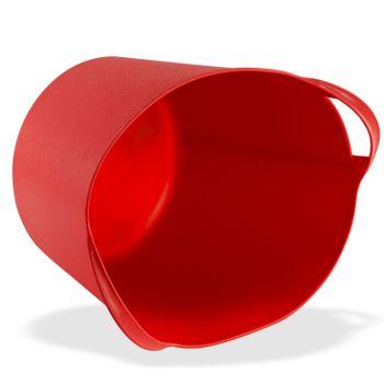 Universal Multikorb Aufbewahrungskorb Korb Eimer flexibel 42 L Liter rot – Bild 2