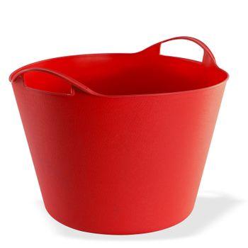 Universal Multikorb Aufbewahrungskorb Korb Eimer flexibel 42 L Liter rot – Bild 1