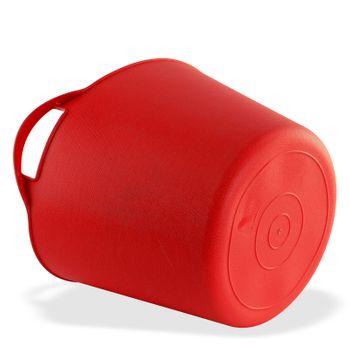 Universal Multikorb Aufbewahrungskorb Korb Eimer flexibel 42 L Liter rot – Bild 3