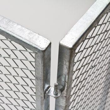 Garten Metallkomposter Gartenkomposter Komposter 106x106x81 cm vollverzinkt – Bild 3