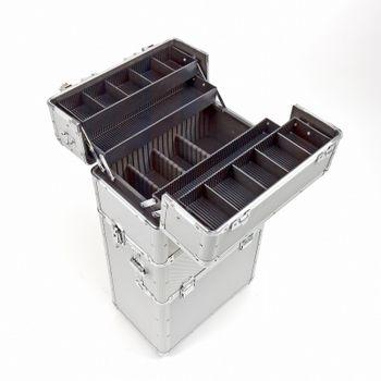 Alu Werkzeugtrolley Werkzeugkoffer Trolley Werkzeug Koffer Alutrolley 3in1 – Bild 1